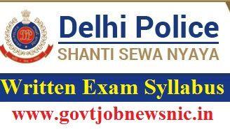 Delhi Police Exam Syllabus 2019