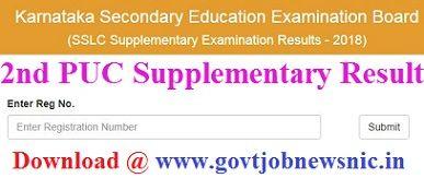 Karnataka 2nd PUC Supplementary Result 2021