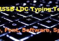 RSMSSB LDC Typing Test Date 2019