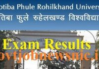 MJPRU Improvement Exam Result 2019
