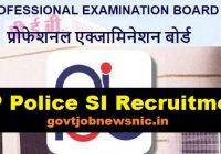 MP Police SI Recruitment 2021