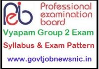MP Vyapam Group 2 Syllabus 2019