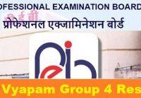 mp vyapam group 4 result 2021