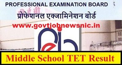 MPPEB Middle School Teacher Result 2019