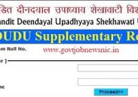 Shekhawati University Supplementary Result 2021