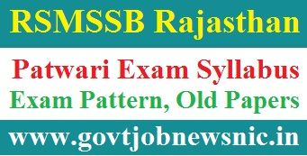 RSMSSB Patwari Exam Syllabus 2019