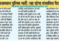 Rajasthan Police Exam Pattern
