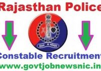 Rajasthan Police Constable Recruitment 2022