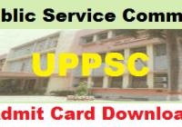 UPPSC Admit Card 2020