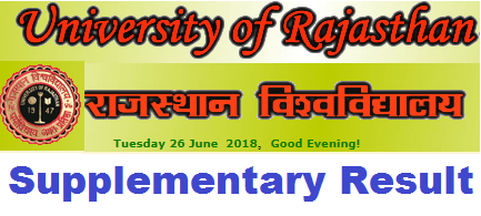 Uniraj Supplementary Result 2019