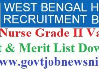WBHRB Staff Nurse Result 2019