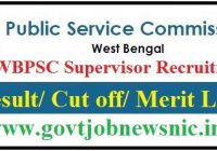 WBPSC Supervisor Result 2019