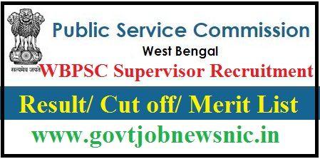 WBPSC Supervisor Result 2019