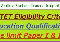 APTET Eligibility Criteria 2020