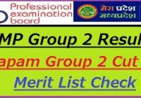 MP Vyapam Group 2 Result 2021