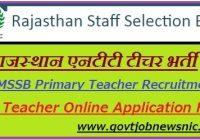 Rajasthan NTT Teacher Recruitment 2021