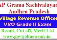 AP Grama Sachivalayam VRO Result 2019
