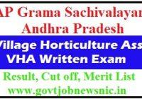 APGS Village Horticulture Assistant Result 2019