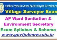 AP Ward Sanitation & Environment Secretary Syllabus 2019