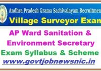 AP Ward Sanitation & Environment Secretary Syllabus 2019