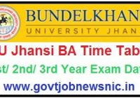 BU Jhansi BA Time Table 2020