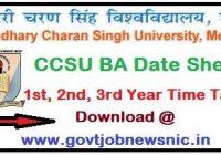 CCSU BA Date Sheet 2020