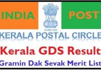 Kerala Post Office GDS Result 2021