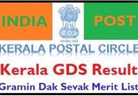 Kerala Post Office GDS Result 2020