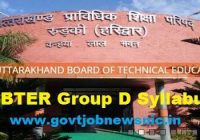 UBTER Group D Syllabus 2019