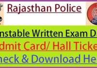 Rajasthan Police Exam Date 2020