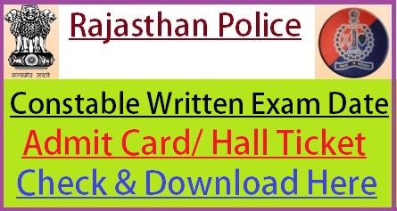 Rajasthan Police Exam Date 2020