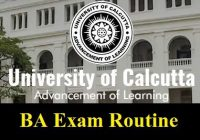 Calcutta University BA Routine 2020