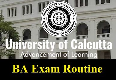 Calcutta University BA Routine 2020
