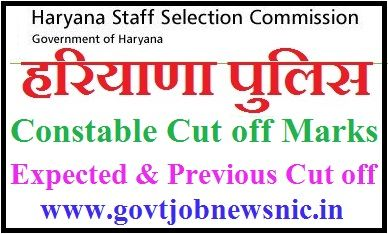 HSSC Constable Cut off Marks 2019