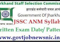 JSSC ANM Syllabus 2021