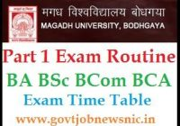 Magadh University Part 1 Routine 2020