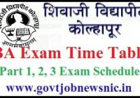 Shivaji University BA Time Table 2020