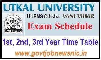 Utkal University Exam Schedule 2020