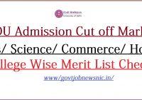 DU Admission Cut off 2021