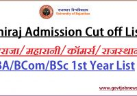 RU Admission Cut off List 2021-22